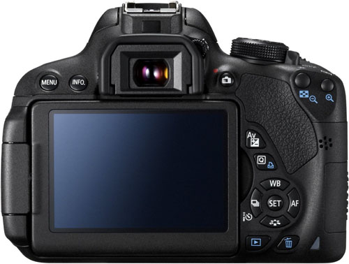 canon eos 700d retro display