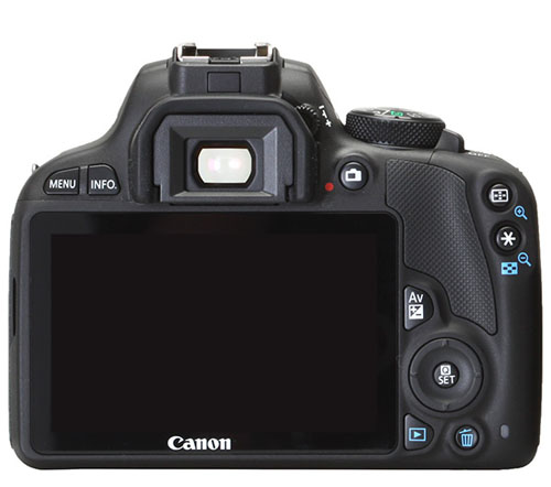 Canon EOS 100D display