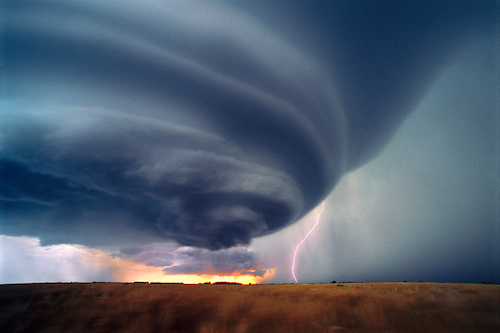 Supercell and lightning