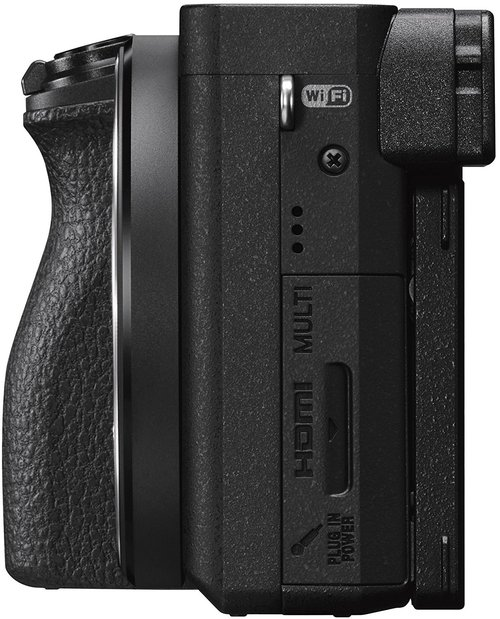 Sony Alpha A6500 Fianco