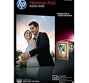 HP CR677A Carta Fotografica Premium, Lucida, 300 G:Mq, Confezione da 25
