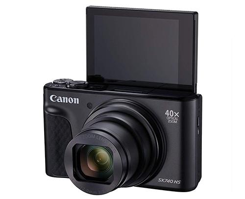 Canon PowerShot SX740 HS selfie display