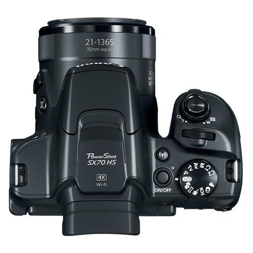 Canon Powershot SX70 HS top