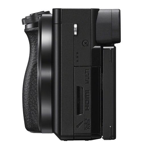 Sony A6100 connessioni