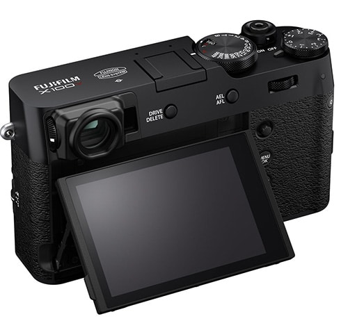 Fujifilm X100V display