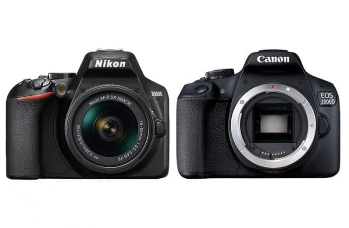 nikon d3500 vs canon 2000d